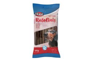 Лакомство для собак с говядиной Soft Snack Rotolinis Trixie м/у 12х10г
