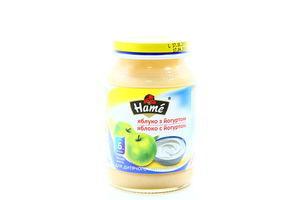 Пюре для детей от 6мес Яблоко с йогуртом Hame с/б 190г