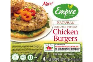 Empire Kosher Natural Chicken Burgers - 4 CT