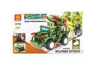 Іграшка Wange конструктор Джип з ракетною установкою 040325