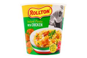 Изделия макаронные быстрого приготовления с курицей Rollton ст 70г