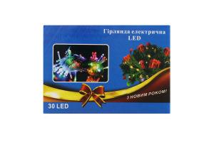 Электрогирлянда LED 30 ламп 4цв 8 -реж Y1