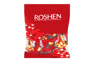 Цукерки Roshen Cundy Nut мяка карамель з арахісом 160г х6