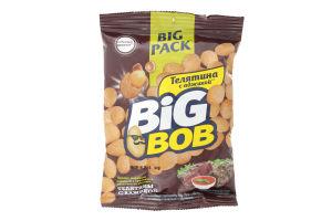Арахис жареный соленый в хрустящей оболочке со вкусом телятины и аджики Big Bob м/у 90г