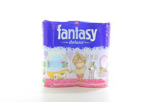 Бумага туалетная 3-слойная белый Deluxe Fantasy 4шт