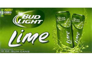 Bud Light Lime Slim Cans - 18 PK
