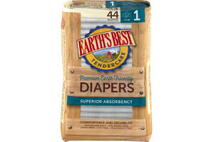 Earth's Best TenderCare Diapers Size 1 - 44 CT