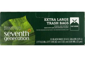 Seventh Generation Extra Large Trash Bags Black - 15 CT