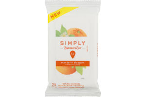 Simply Summer's Eve Cleansing Cloths Mandarin Blossom - 24 CT