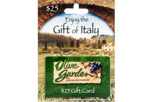 Olive Garden Italian Restaurant $25 Gift Card