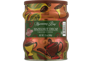 Harmony Bay Hazelnut Decaf Ground Coffee