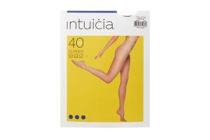 Колготки жіночі Intuicia Classic 40den 5-6 чорний