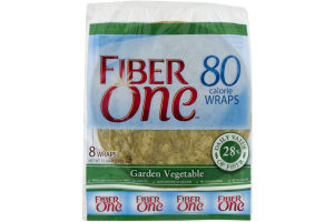 Fiber One 80 Calorie Wraps Garden Vegetable - 8 CT