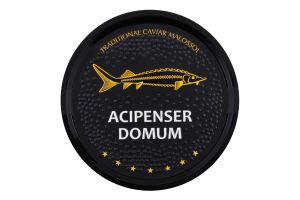 Икра осетра черная зернистая Acipenser domum ж/б 100г