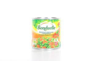 Горошек зеленый с морковью Bonduelle ж/б 400г