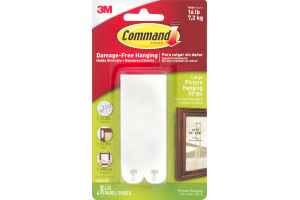 3M Command Damage Free-Hanging Large Picture Hanging Strips - 4 PRS