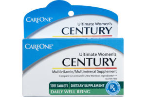 CareOne Century Ultimate Women's Multivitamin/Multimineral Supplement - 100 CT