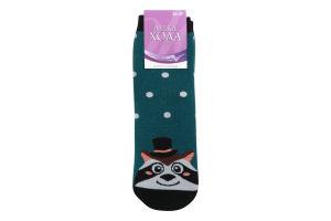 Шкарпетки жіночі Легка хода №5385 23 темно-бірюзовий меланж