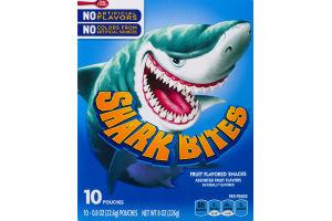 Betty Crocker Shark Bites Fruit Flavored Snacks - 10 CT