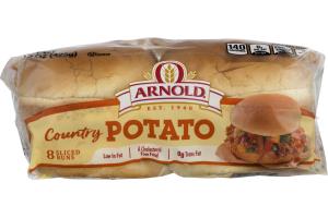 Arnold Country Potato Sliced Buns - 8 CT