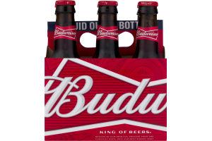 Budweiser Bottles - 6 PK