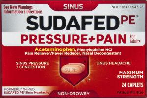 Sudafed PE Pressure & Pain for Adults Maximum Strength 24 Caplets
