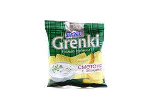 Гренки со вкусом сметаны с зеленью Flint м/у 80г