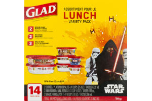 Glad Star Wars Assortment Lunch Variety Pack - 14 PC