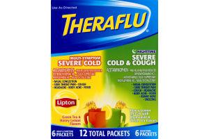 Theraflu Multi-Sympton & Nighttime Severe Cold+Cough Tea Variety Pack - 12 CT