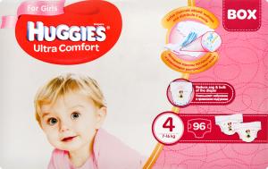 Подгузники Huggies Ultra Comfort Disney Box 4 для девочек, 96 шт.