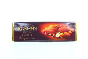 Шоколад Roshen Classic экстрачерный с карамел миндалем и цел лесн орехами 200г