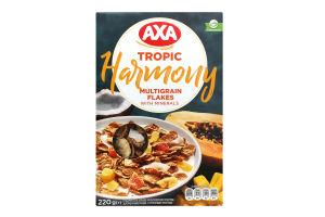 Пластівці мультизернові з тропічними фруктами Harmony AXA к/у 220г