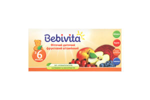 Фіточай для дітей від 6міс фруктовий вітамінний Bebivita 30г