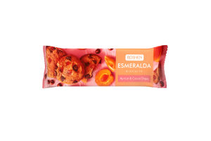 Сдобное печенье Эсмеральда с абрикосом и кусочками глазури БКР 150г /16шт