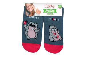 CONTE Шкарпетки жіночі Happy 17С-21СП р.25 124 джинс