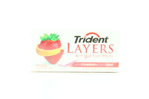 Жувальна гумка Trident Layers Strawberry+Citrus 14пл 35г