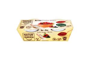 Десерт рослинний органічний з рису з червоними фруктами NaturGreen к/у 2х125г