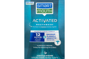 Smart Mouth Activated Mouthwash Advanced Clinical Formula - 2 CT