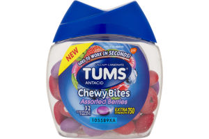 TUMS Antacid Chewy Bites Assorted Berries Extra Strength - 32 CT
