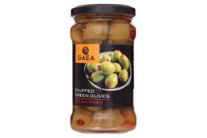 Оливки Gaea зеленые фаршированные перцем