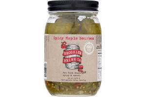 Brooklyn Brine Co. Pickles Spicy Maple Bourbon