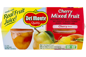 Del Monte Cherry Mixed Fruit - 4 CT