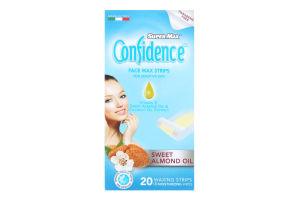 Полоски для депиляции лица восковые для чувствительной кожи Confidence Super-Max 20шт