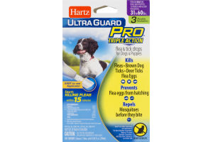 Hartz Ultra Guard Pro Triple Action Flea & Tick Drops For Dogs & Puppies - 3 CT