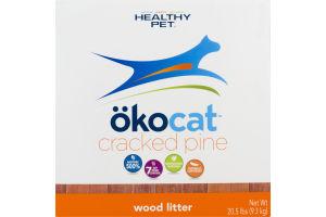 Healthy Pet Okocat Wood Litter Cracked Pine