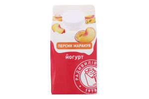 Йогурт 2% Персик-маракуйя Радивилівмолоко т/п 430г