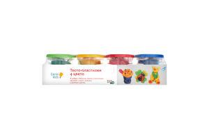 Набор для творчества для детей от 3лет №ТА1010V Тесто-пластилин 4 цвета Genio Kids 1шт