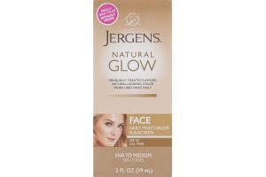 Jergens Face Daily Moisturizer Sunscreen Natural Glow SPF 20