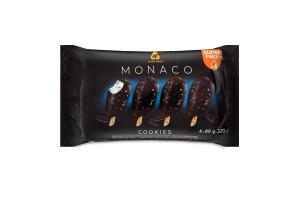 Морозиво 10% глазуроване на паличці Cookies Monaco Three Bears м/у 4х80г
