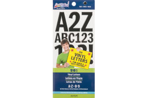 ArtSkills Vinyl Letters A-Z 0-9 - 210 Pieces
